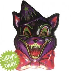 GHOULSVILLE CRAZY CAT VAC-TASTIC PLASTIC MASK