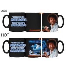 BOB ROSS MISTAKES HEAT CHANGE MUG