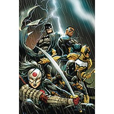 DF BATMAN OUTSIDERS #1 ELITE GOLD SGN HILL