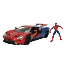 METALS MARVEL SPIDER-MAN 2017 FORD GT 1/24 VEHICLE