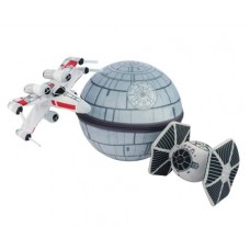 STAR WARS DEATH STAR & FIGHTER PLUSH SCENEZ 3PC SET
