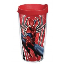 SPIDER-MAN RED SPIDER 16 OZ TUMBLER WITH LID
