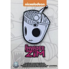 INVADER ZIM GLOW IN THE DARK GIR X-RAY PIN