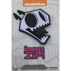 INVADER ZIM GLOW IN THE DARK ZIM X-RAY PIN