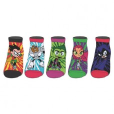 TEEN TITANS GO ANKLE SOCK 5PC SET
