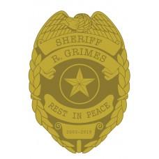WALKING DEAD RICK SHERIFF BADGE PIN @D