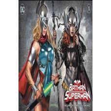 DF BATMAN SUPERMAN #1 COMICXPOSURE HORN EXC @W