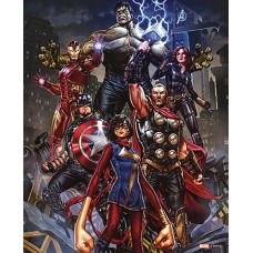 AVENGERS GROUP WOOD 16IN WALL ART (C: 1-1-2)