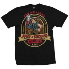 ARMY OF DARKNESS ASH AMBER ALE PX BLACK T/S MED
