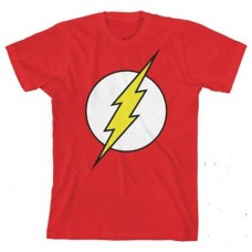 DC COMICS FLASH GLOW IN THE DARK YOUTH T/S LG