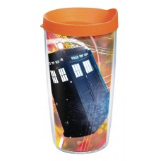 DR WHO TIME LORD 16OZ TUMBLER W/ ORANGE LID