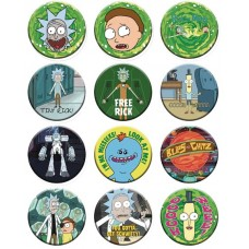 RICK AND MORTY 1-1/4IN 144 PIECE BUTTON ASST