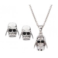 STAR WARS DARTH VADER PENDANT & EARRINGS SET