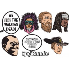WALKING DEAD 15 YEAR ANNIVERSARY 7PC PIN BUNDLE
