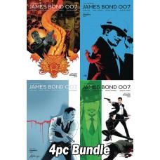JAMES BOND 007 #1 CVR A B C D 4PC BUNDLE