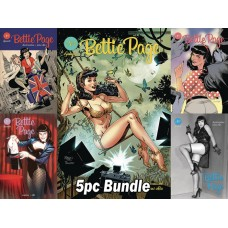 BETTIE PAGE #1 CVR A B C D E 5PC BUNDLE