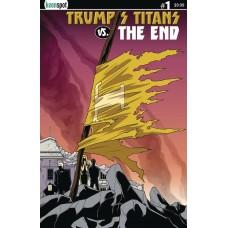 TRUMPS TITANS VS THE END #1 CVR C CAPE ON A STICK