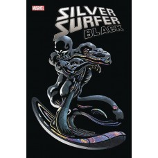 DF SILVER SURFER BLACK #5 CATES SGN @W