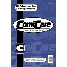 COMICARE CURRENT SIZE POLYETHYLENE BAGS (100)