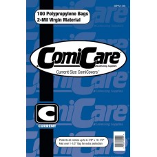 COMICARE CURRENT SIZE POLYPROPYLENE BAGS (100)